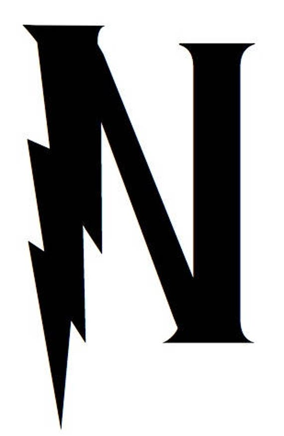 Letter N Stencil Made From 4 Ply Mat Board Wizard Font Etsy