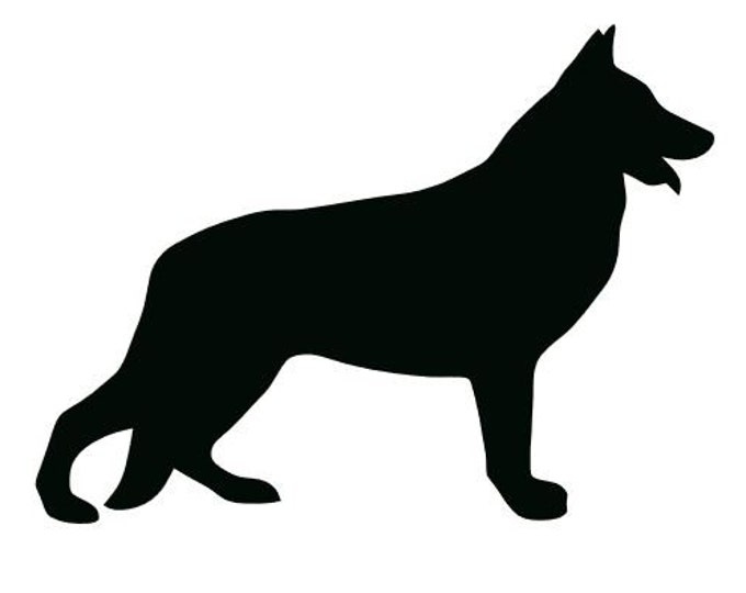 Pack of 3 German Shepard Full Stencils Made from 4 Ply Mat Board, 11x14, 8x10 and 5x7 -Package includes One of Each Size