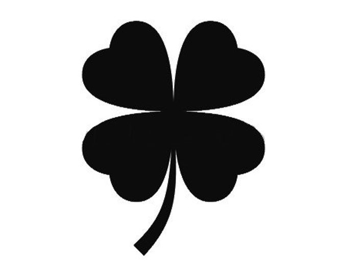 Four Leaf Clover Stencil Made from 4 Ply Mat Board-Choose a Size-From 5x7 to 24x36