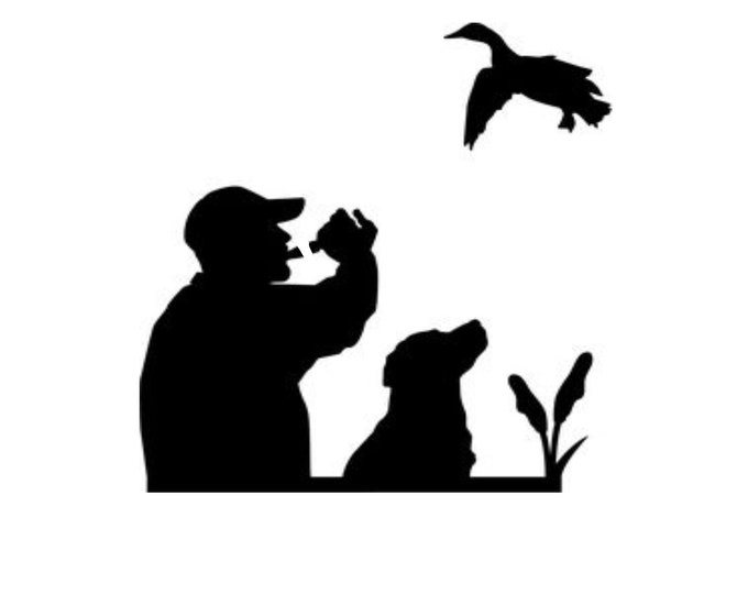Bird Hunter Stencil Made from 4 Ply Mat Board-Choose a Size-From 5x7 to 24x36