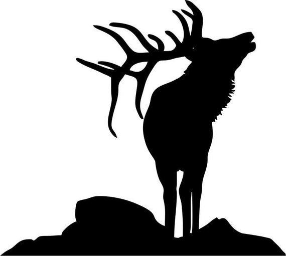 Pack Of 3 Elk On Rock Stencils Made From 4 Ply Mat Board