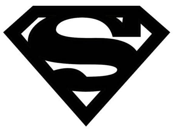 Superman Symbol Stencil Made From 4 Ply Mat Board Etsy