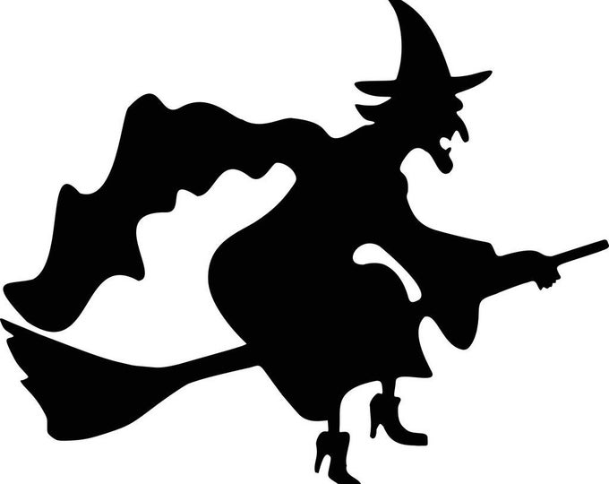 Pack of 3 Halloween Witch Stencils, 16x20, 11x14 and 8x10 -Package includes One of Each Size