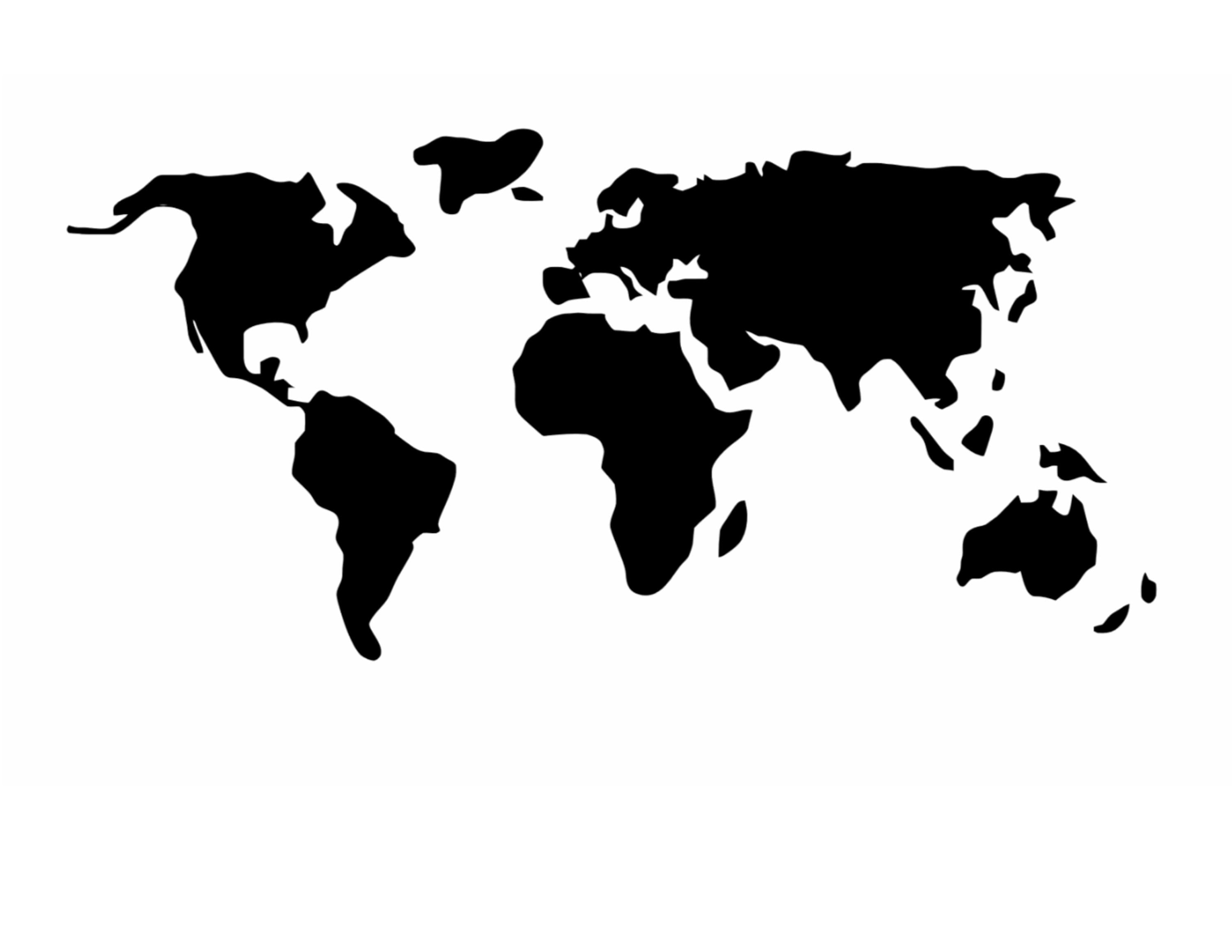 World Map Stencil World Map Stencil Made from 4 Ply Mat Board 15x24 Background Size World Map Stencil