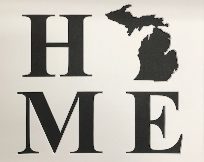 Home with State Style 2 Stencils Made from 4 Ply Mat Board Pick Your State
