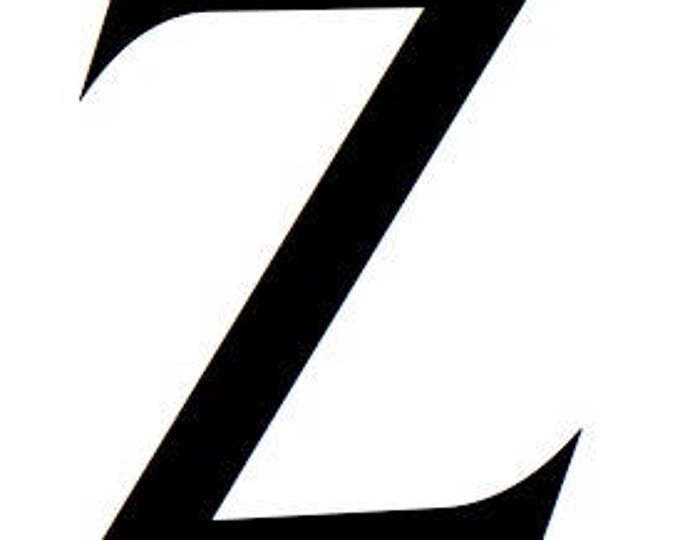 Letter Z Stencil Made from 4 Ply Mat Board-Wizard Font
