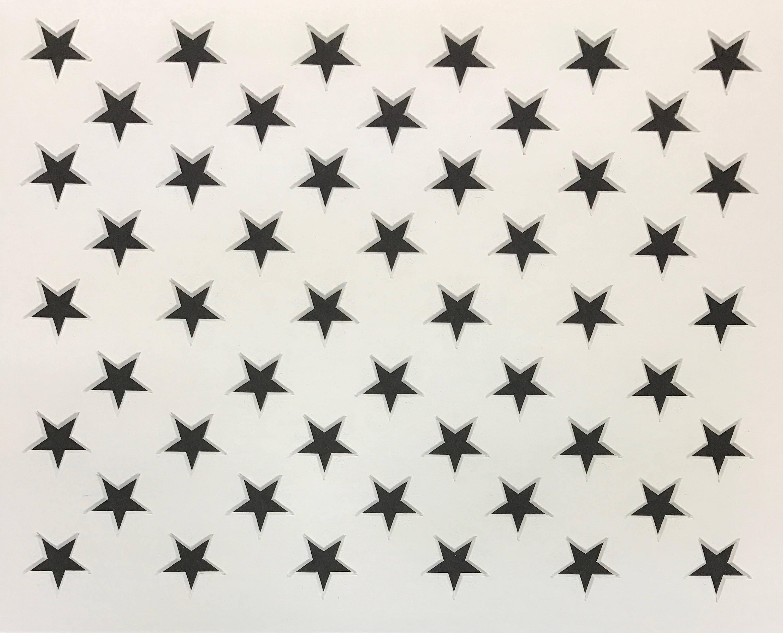Us Flag Stars Stencil Made From Mat Board Jpg 3000x2424 8x10 Star Template