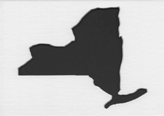 New York State Stencil Made From 4 Ply Mat Board Choose A