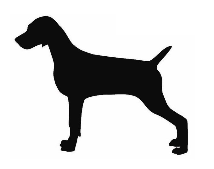 Pack of 3 Weimaraner Stencils Made from 4 Ply Mat Board, 11x14, 8x10 and 5x7 -Package includes One of Each Size