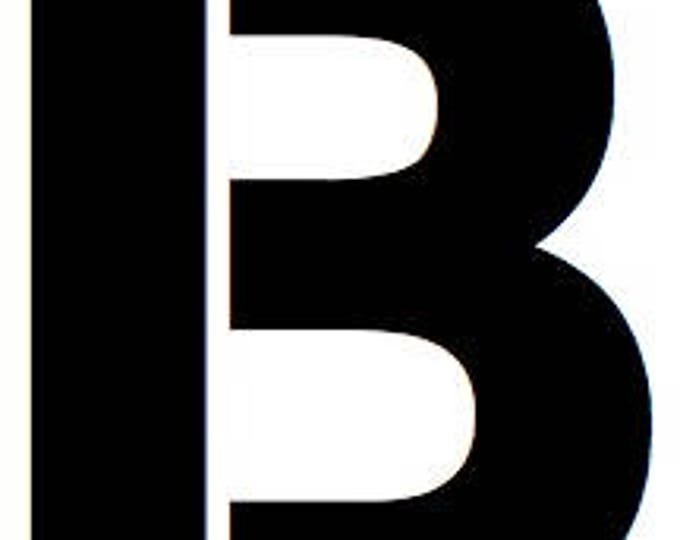 Letter B Stencil Made from 4 Ply Mat Board