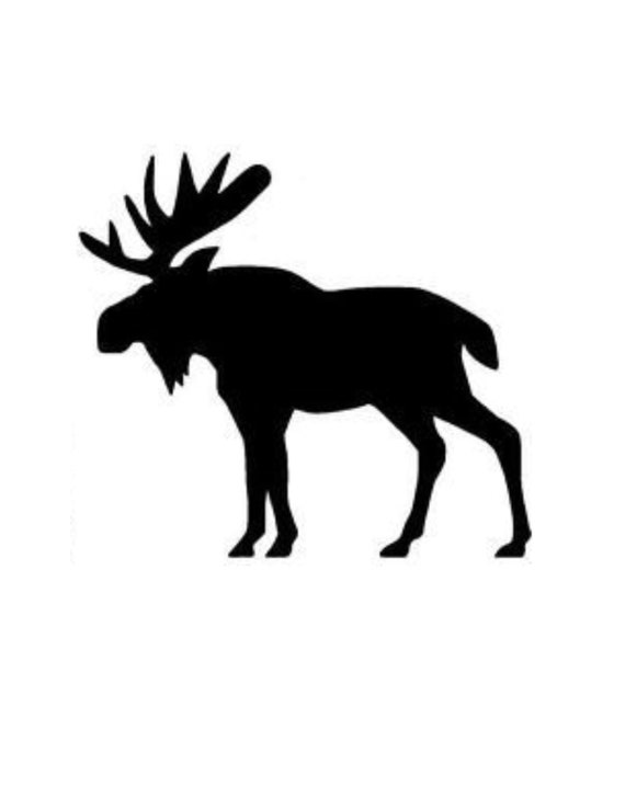 8x10 and 5x7 Pack of 3 Moose Stencils Cut from 4 Ply Mat Board 11x14