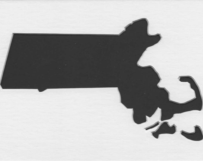 Massachusetts State Stencil Made from 4 Ply Mat Board-Choose a Size-From 5x7 to 24x36