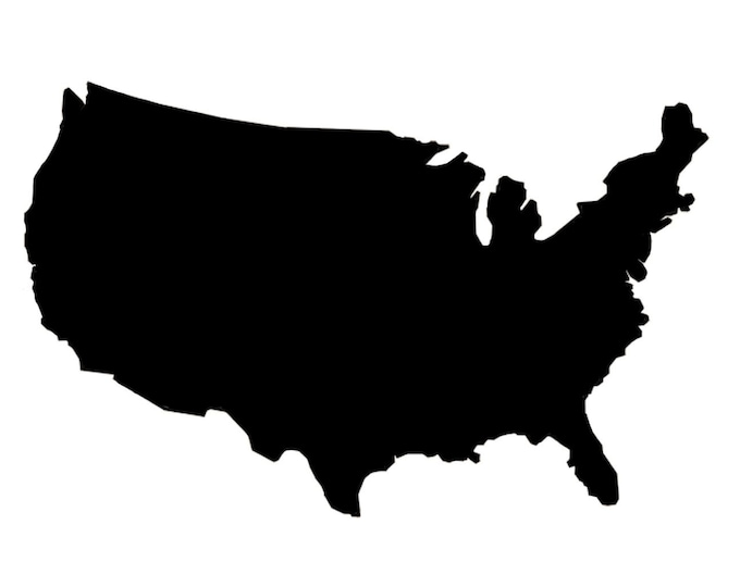 Pack of 3 USA United States   Stencils Made from 4 Ply Mat Board, 18x24, 16x20 and 11x14 -Package includes One of Each Size