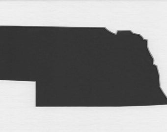 Pack of 3 Nebraska State Stencils Made From 4 Ply Mat Board 11x14, 8x10 and 5x7 -Package includes One of Each Size