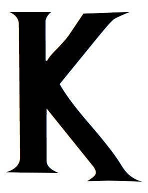 Letter K Stencil Made From 4 Ply Mat Board Wizard Font