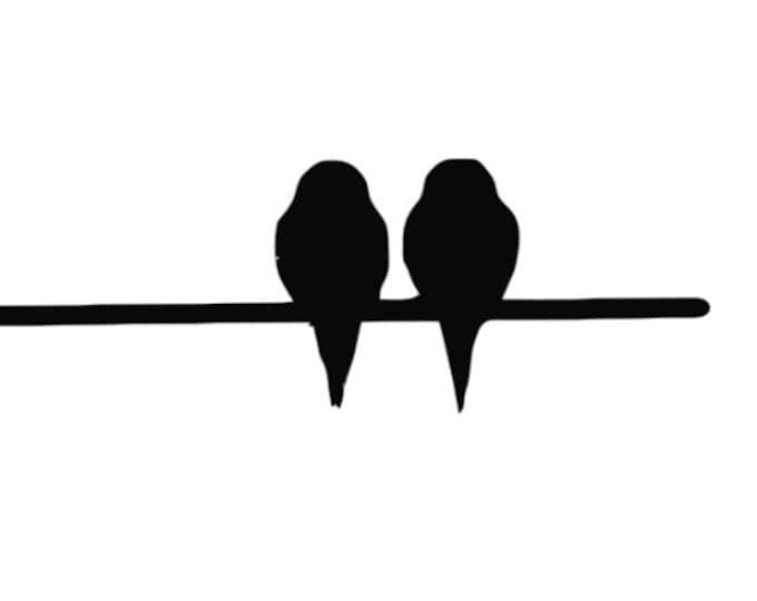 Two Birds on Wire Stencil Made from 4 Ply Mat Board-Choose a Size-From 5x7 to 24x36
