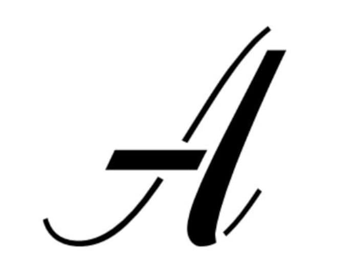 Pack of 26 Script Letter Stencils-Choose your Size-Full Alphabet