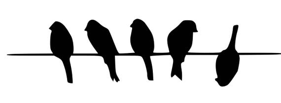 Five Birds On Wire Stencil Made From 4 Ply Mat Board