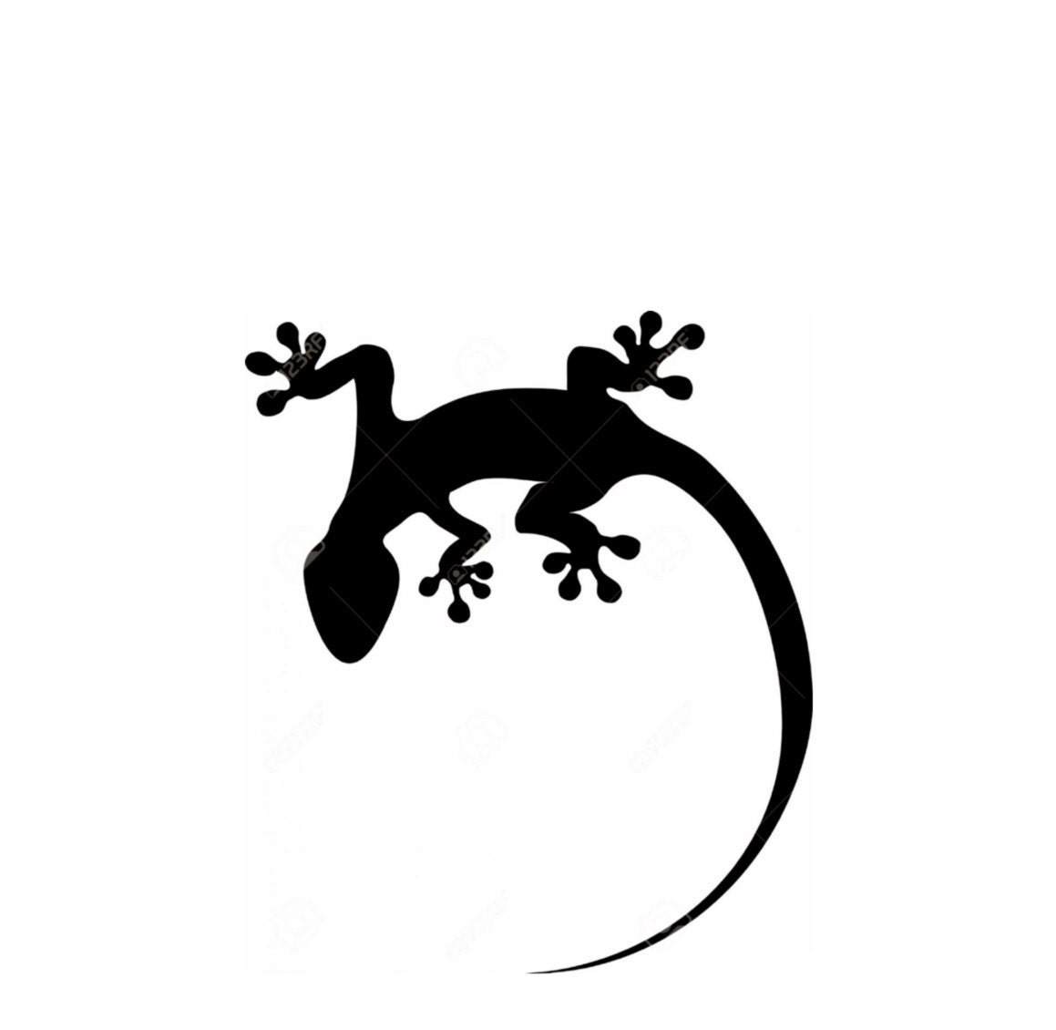 Lizard Gecko Stencil Made From 4 Ply Mat Board Choose A