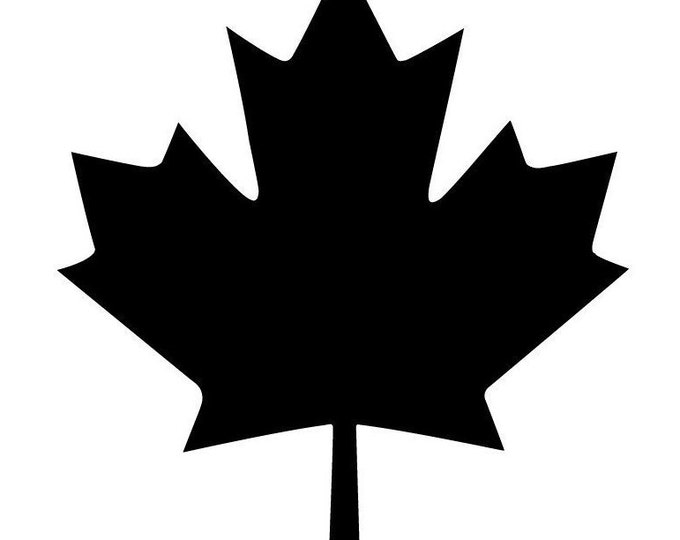 Pack of 3 Canadian Maple Leaf Stencils Made From 4 Ply Mat Board 12x12, 8x8 and 6x6 -Package includes One of Each Size