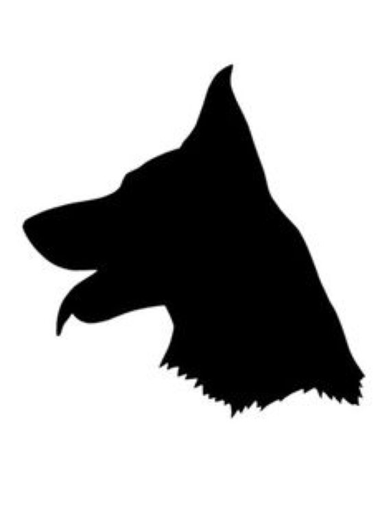 German Shepherd Stencil Made From 4 Ply Mat Board Choose A