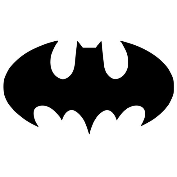 Bat Symbol Batman Stencil Made From 4 Ply Mat Board Etsy