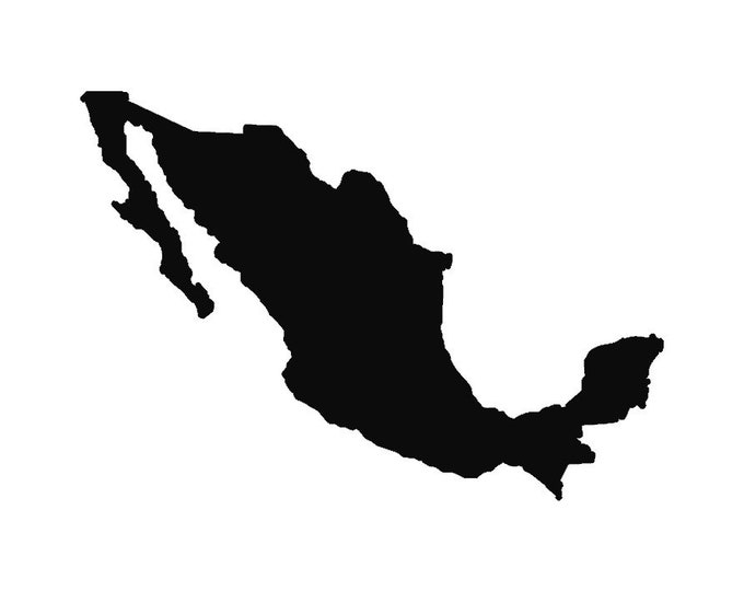 Mexico Stencil Made from 4 Ply Mat Board-Choose your Size