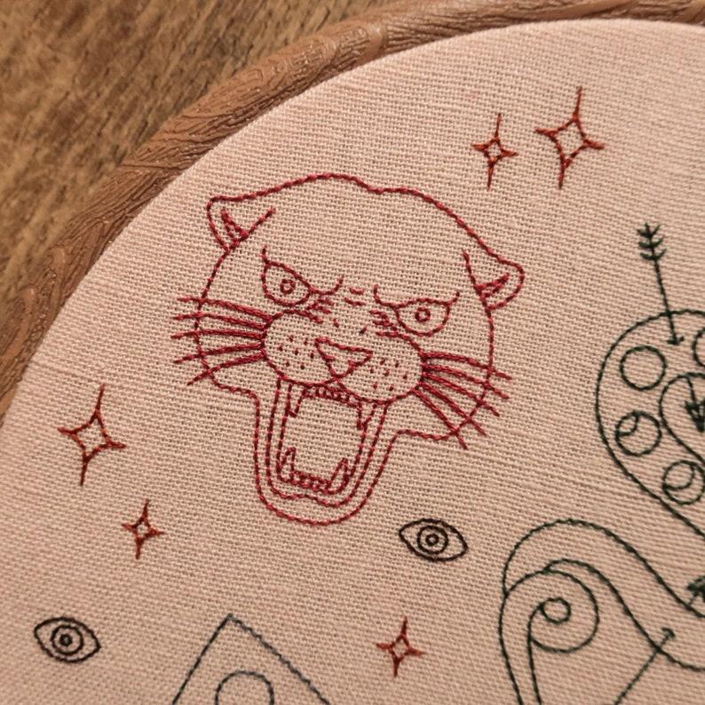 modern hand embroidery wall hanging Tattoo Flash Sheet Hand Embroidery Hoop Art