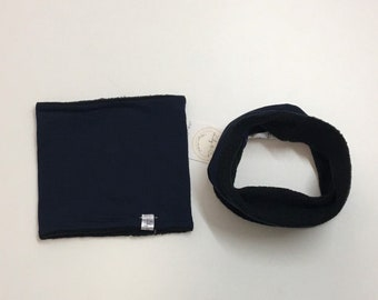 Neck warmer Black and Navy