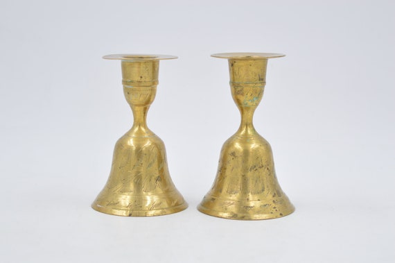 Vintage Brass Colored Candlestick HoldersVintage Candlestick HoldersVintage Home Decor