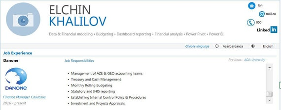 Interactive Resume in Excel | Resume Template | CV Template | Resume in  Excel |