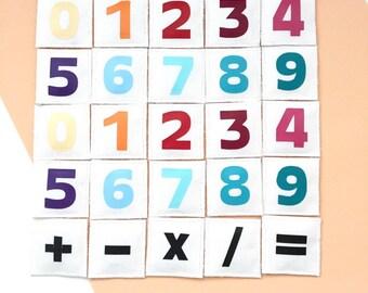 kit MATHS, chiffres aimantés tissu, apprendre à compter, jeu mathématique, jeu éducatif, jouet ludique, parentalité positive / bienveillante