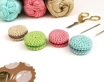 Macaron en laine, dînette au crochet, jouet à assembler soi-même, jouet éducatif, jeu type Montessori, motricité fine, dinette puzzle