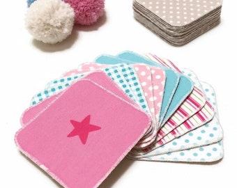 Jeu de mémoire tissu pour enfant, Memory couleur sorbet, jeu de paires, jeu de concentration, jeu pour le voyage