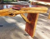 Cedar Bench w live edge