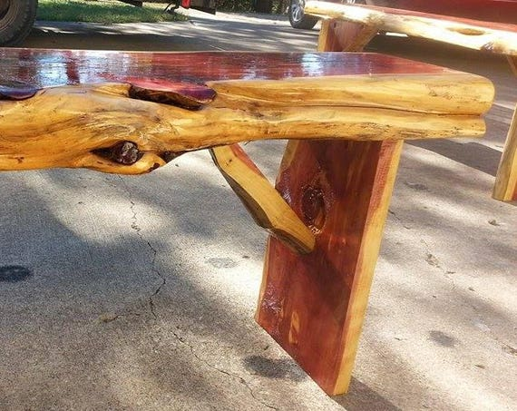 Cedar Bench w/live edge