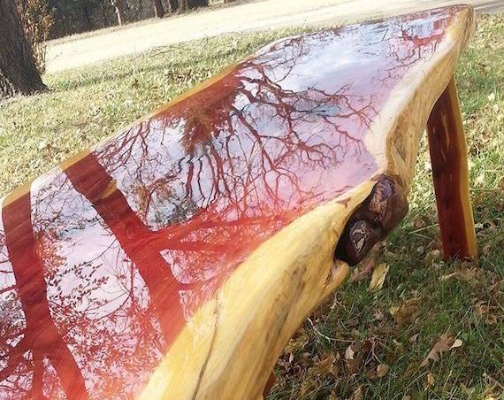 5 foot Live Edge Cedar Coffee Table
