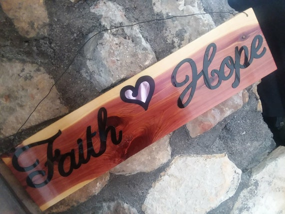 Faith n' Hope Sign