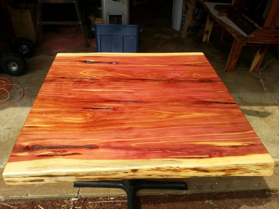 Small Rustic Live Edge Cedar Table Tops