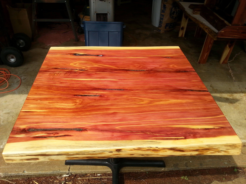 small rustic live edge cedar table tops. Black Bedroom Furniture Sets. Home Design Ideas