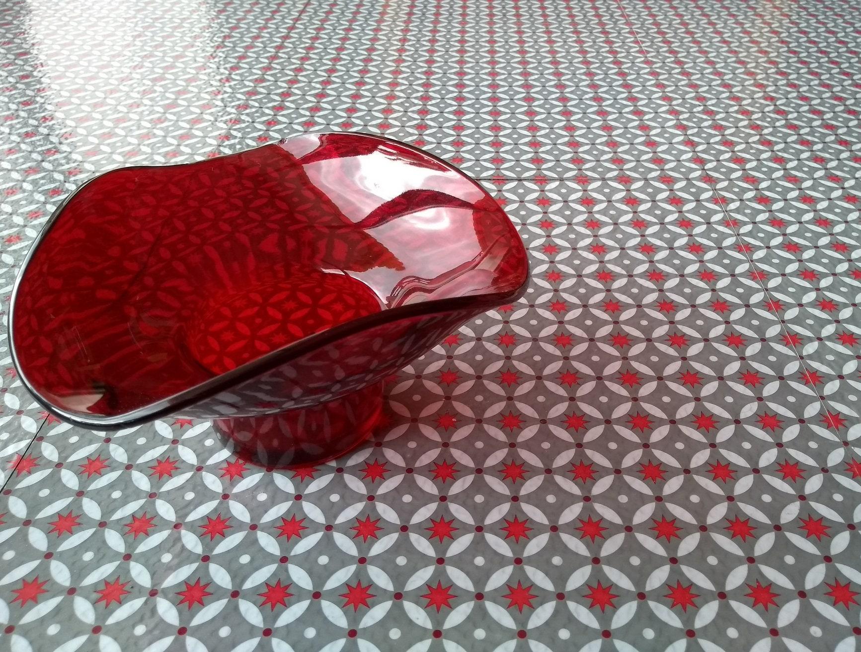 Red Stars Vinyl Floor Tiles Etsy