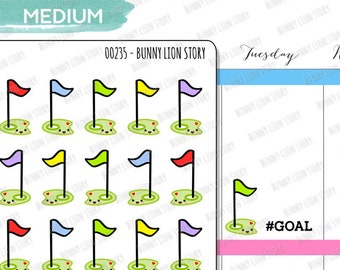 00235 | 20 Goal Life Purpose Setting Kawaii Agenda Diary Journal Schedule Reminder Scrapbook Planner Stickers