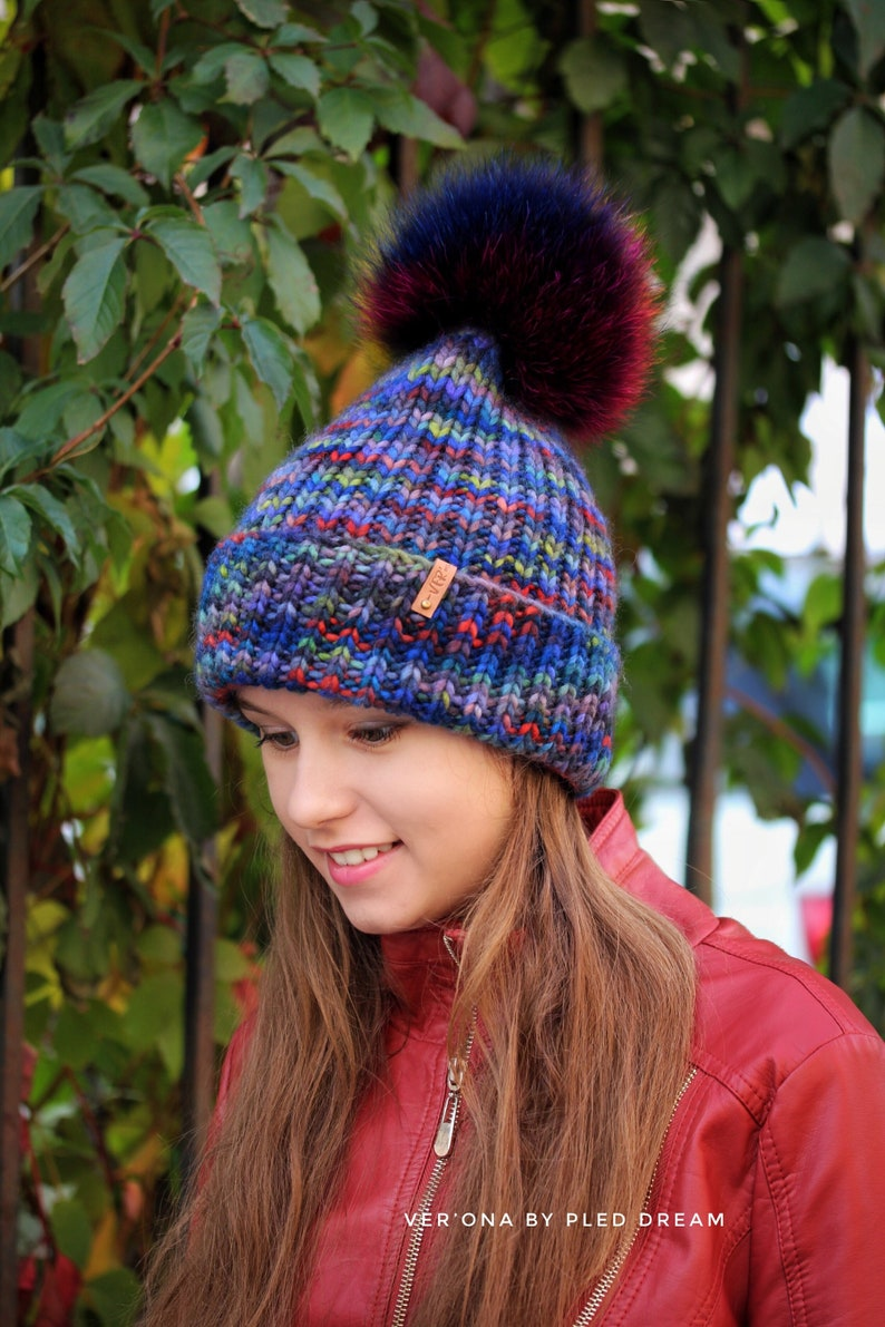 08800ff230f5c3 Knitted beanie hat hand-knit winter hats knit wool hat hat   Etsy