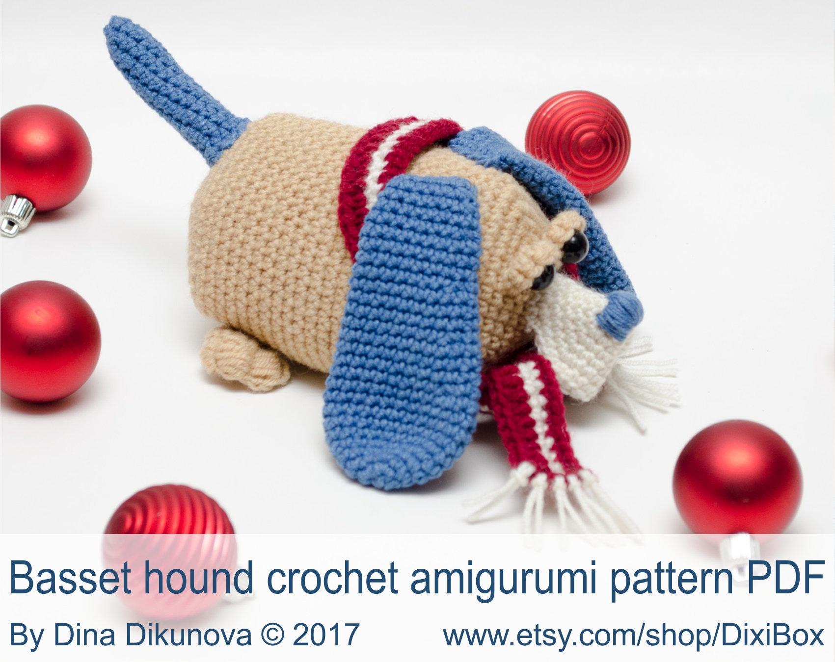 PDF AmiDogs Basset Hound amigurumi dog CROCHET PATTERN | Hund ... | 1350x1701
