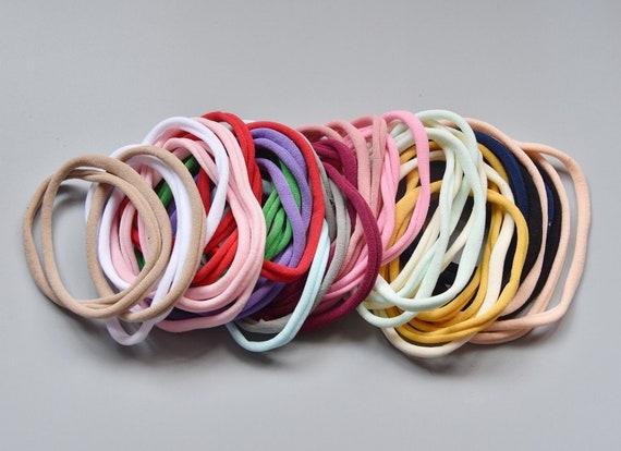 6 X Super Soft   Hair Ponies Hair Bands Hair Elastics Stretchable Snag Endless