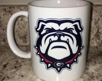 Georgia Bulldogs ceramic coffee mug