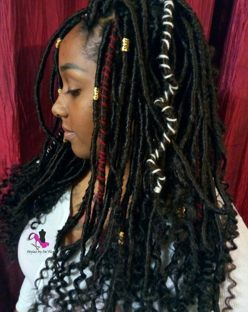 Goddess Faux Loc Dread Locs 120 Pieces Lot 12 24 In Etsy