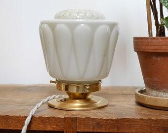 Vintage globe Thabur pale yellow / vintage light
