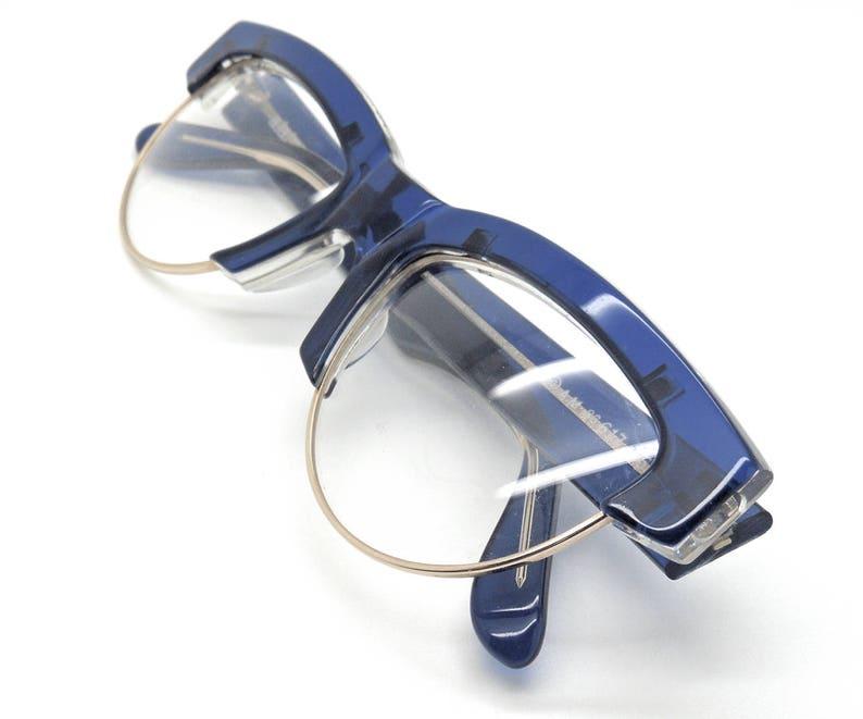 a6930d70a0b32 Alain Milki 617 Blue Half Rim Style Frames