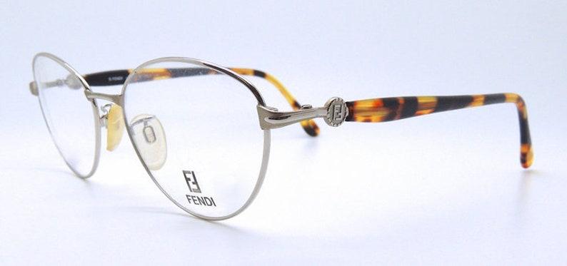 deccbe30b3eed Designer Vintage Panto Shaped Silver and Tortoiseshell Prescription Glasses  By FENDI VL 7015